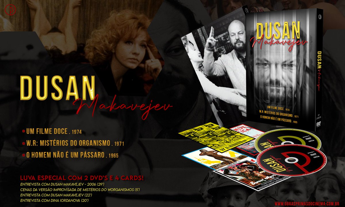 """Obras-Primas do Cinema on Twitter: """"🎞 PRÉ-VENDA! ____ Dusan Makavejev (Luva  com 2 DVDs) Diretor iugoslavo e um dos principais nomes da contracultura em  seu auge. Edição especial de colecionador em uma"""
