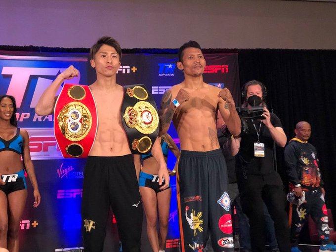 Inoue y Dasmarinas cumpliron con el pesaje sin contratiempos.