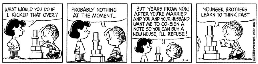 RT @IamJackBoot: My favorite Peanuts panel I've remembered for forty years and today I decided to look for it. https://t.co/NNGiVV9J0u