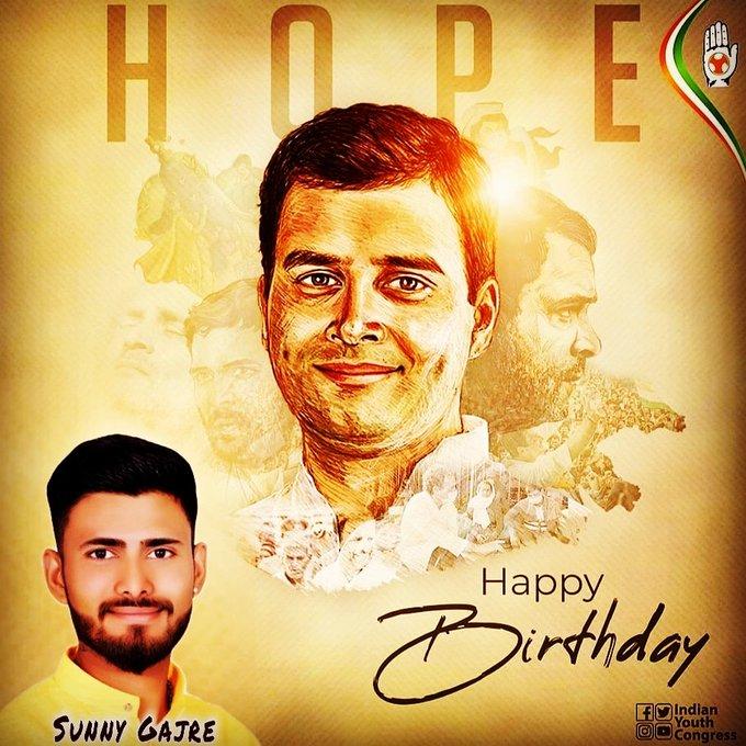 Wishing Sh.Rahul Gandhi Jii A Very  Happy Birthday