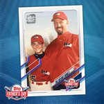 The man who has always been there for me! I can't wait to give my Dad our custom @Topps card for Father's Day. Thank you Topps!