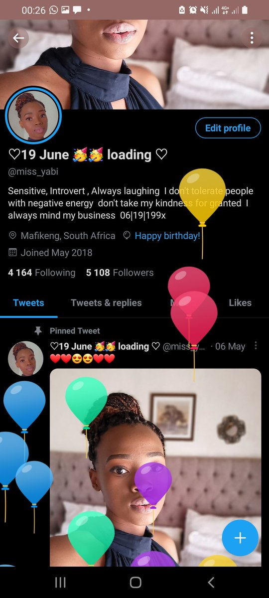 Looks who got balloons 🎈❤❤❤❤❤ happy birthday to meeeeee Happy birthdayto a self-willed, strong, and beautiful soul. Yes, you got it right! I am turning a year older today. HBD to me!🍻🥂🍾🍾🍾🍾 Tsogang lona 💃💃💃💃💃💃 https://t.co/cNCUJR12xG