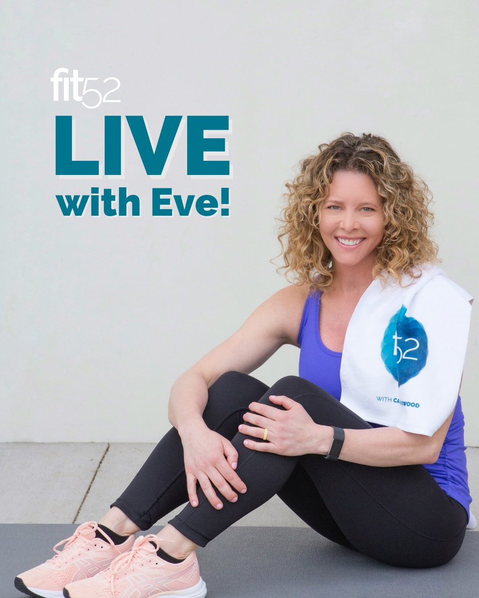 Who wants Eve Overland to be their personal trainer? If you've been wanting to try #fit52, here's your chance to get a sneak peek!  Join us on June 25 at 1pm ET for a quick Instagram Live session—done in less than 20 minutes! See you there. 💙 https://t.co/WodzP5mWTk