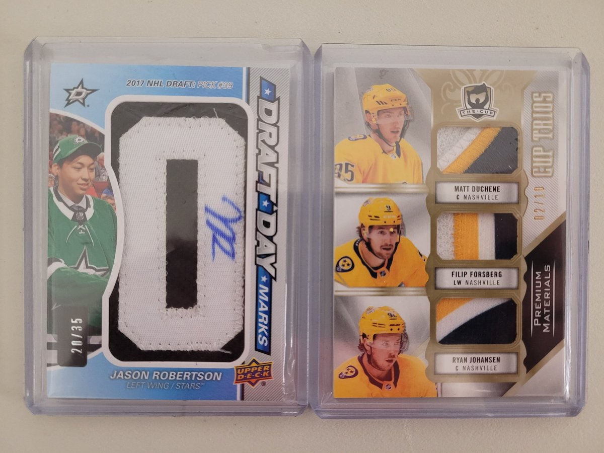 @a_pep11 @4thLinePlugsRG Robertson $200 🇨🇦 Preds Trio $45 🇨🇦 https://t.co/sX8JznG1D5