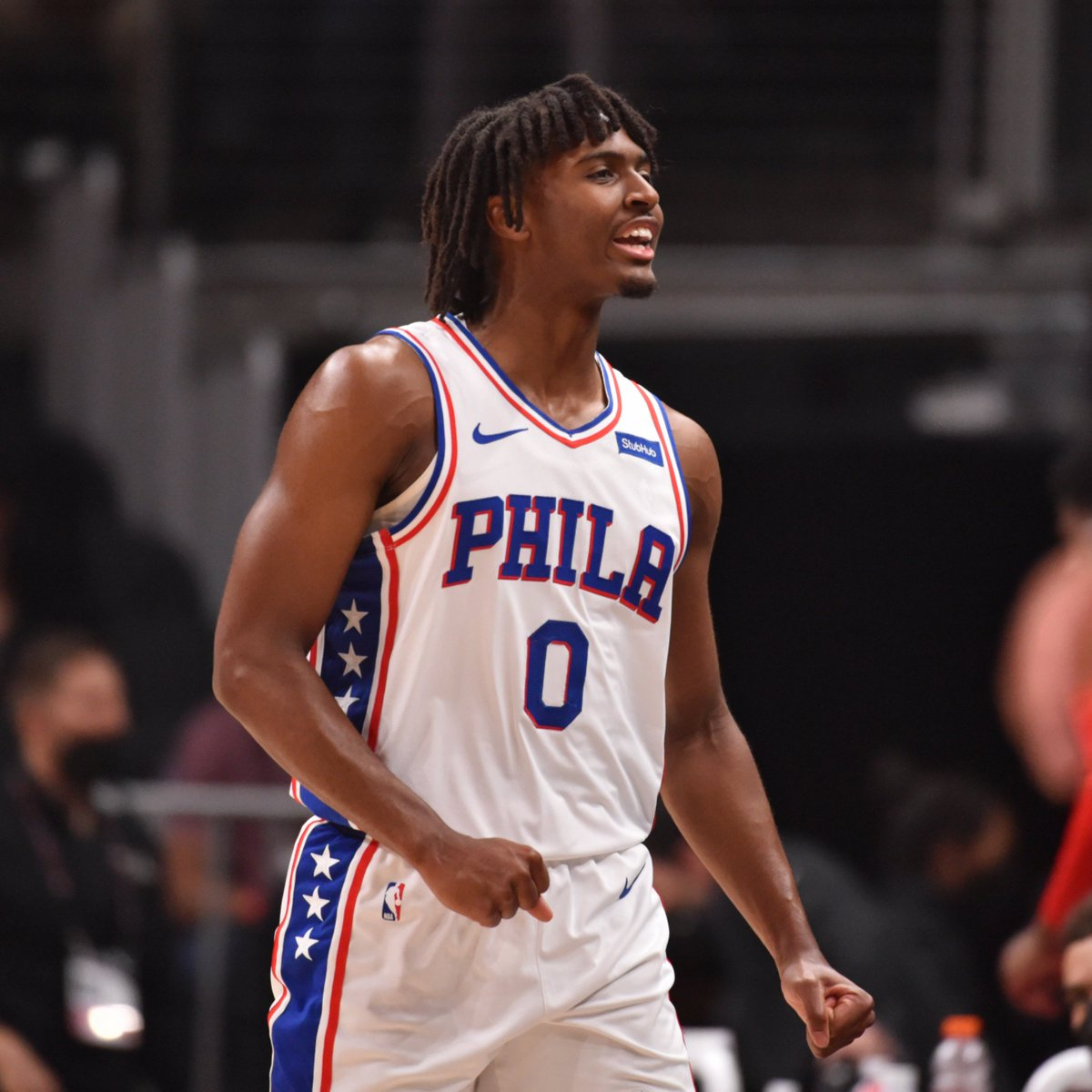 Tyrese Maxey leads the way for the @sixers at the break.  9 PTS   6 REB   17.7 FPTS  Second half incoming on ESPN. https://t.co/un3ofU2oLy
