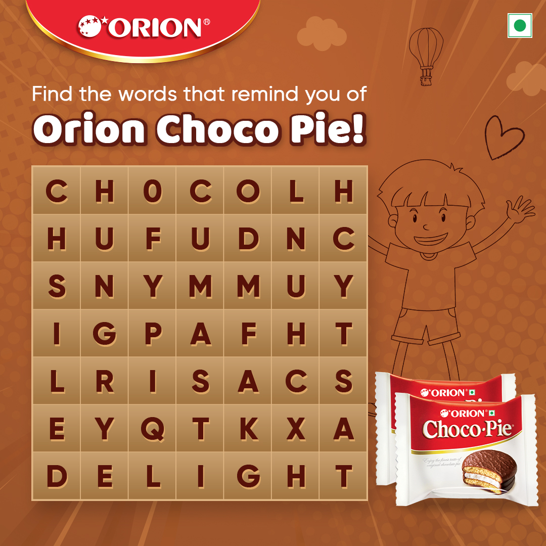 #GiveawayAlert It's time to play Sherlock! Get your magnifying glasses out and start spotting words related to @InOrionChocoPie. Put your answers in the comment box below and one lucky winner gets to take home an Amazon voucher worth Rs 1,000/- Let's play! https://t.co/8HEHP16Qg0