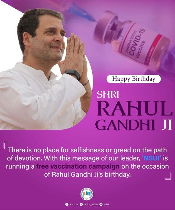Happy Birthday Rahul Gandhi jiii