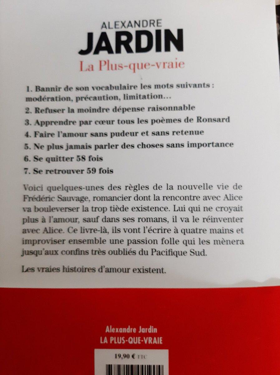 Livre lu en une après-midi 🌞 #laplusquevraie #AlexandreJardin @AlexandreJardin https://t.co/FSdwtUk2gr