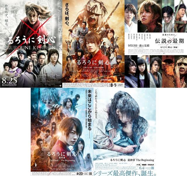 rurouni kenshin film poster watch order