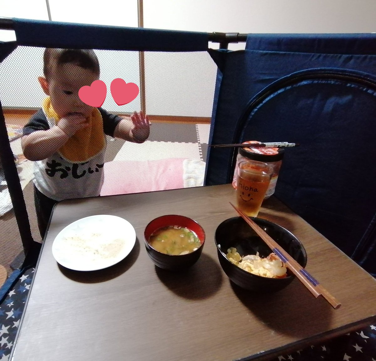 ベビーサークルに旦那を隔離!ゆっくりご飯を食べる方法