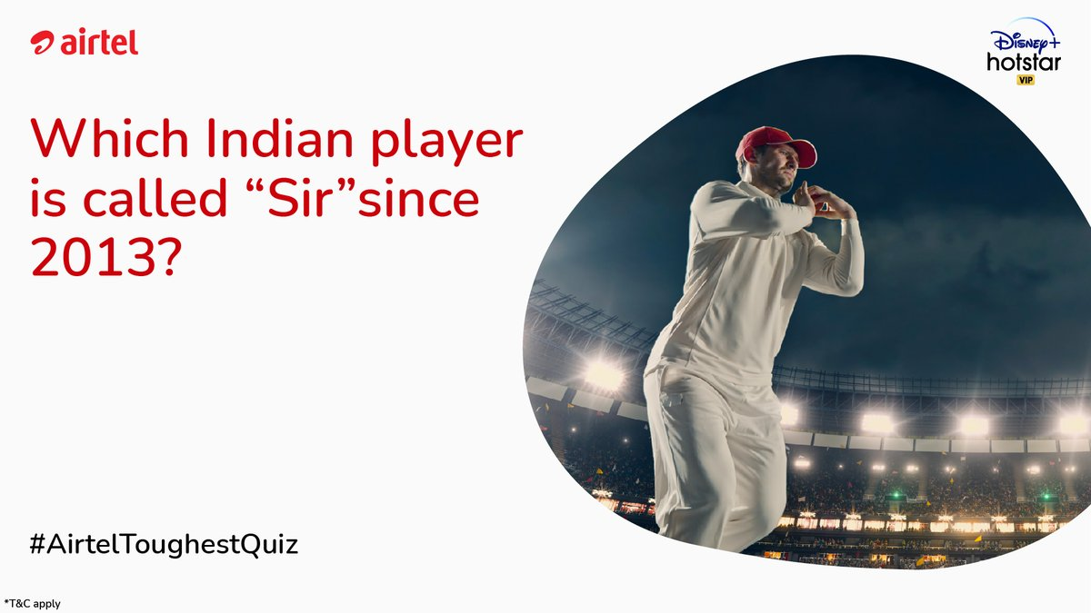 If you know the name then you can lead yourself to victory in the #AirtelToughestQuiz. Lucky winners get a chance to win Rs.1000 Voucher https://t.co/TOw5NIV1MI