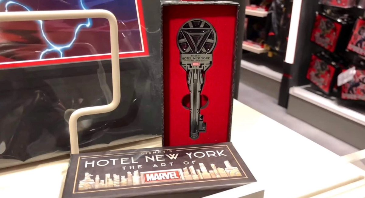 🛍 First look at the Disney's Hotel New York - The Art of Marvel limited edition collectible key, on sale soon: #HNYArtOfMarvel https://t.co/5MLiEXoGxc