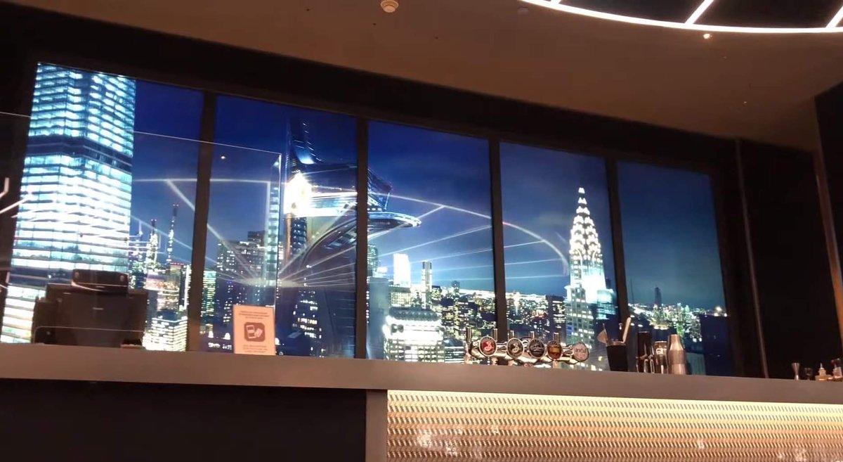 "The Skyline Bar virtual view has a ""night mode"" 😍 #HNYArtOfMarvel https://t.co/2XtExxyAX9"