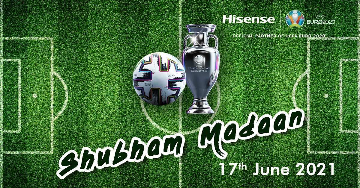 Congratulations to our lucky winner for spotting Hisense! Thank you for your participation.  17th June - Shumbham Madaan  Please share your contact details in our inbox to receive your EURO goodies!  #SpotHisense #EURO2020 #Hisense https://t.co/C5tST0fxjg