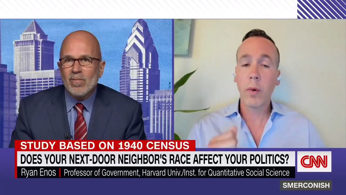 A new study suggests there's a correlation between the political affiliation of White Americans living in 1940 who are still alive today and whether they grew up living next door to Black Americans. Harvard professor Ryan Enos discusses his research with @smerconish. https://t.co/2mB88W11vo
