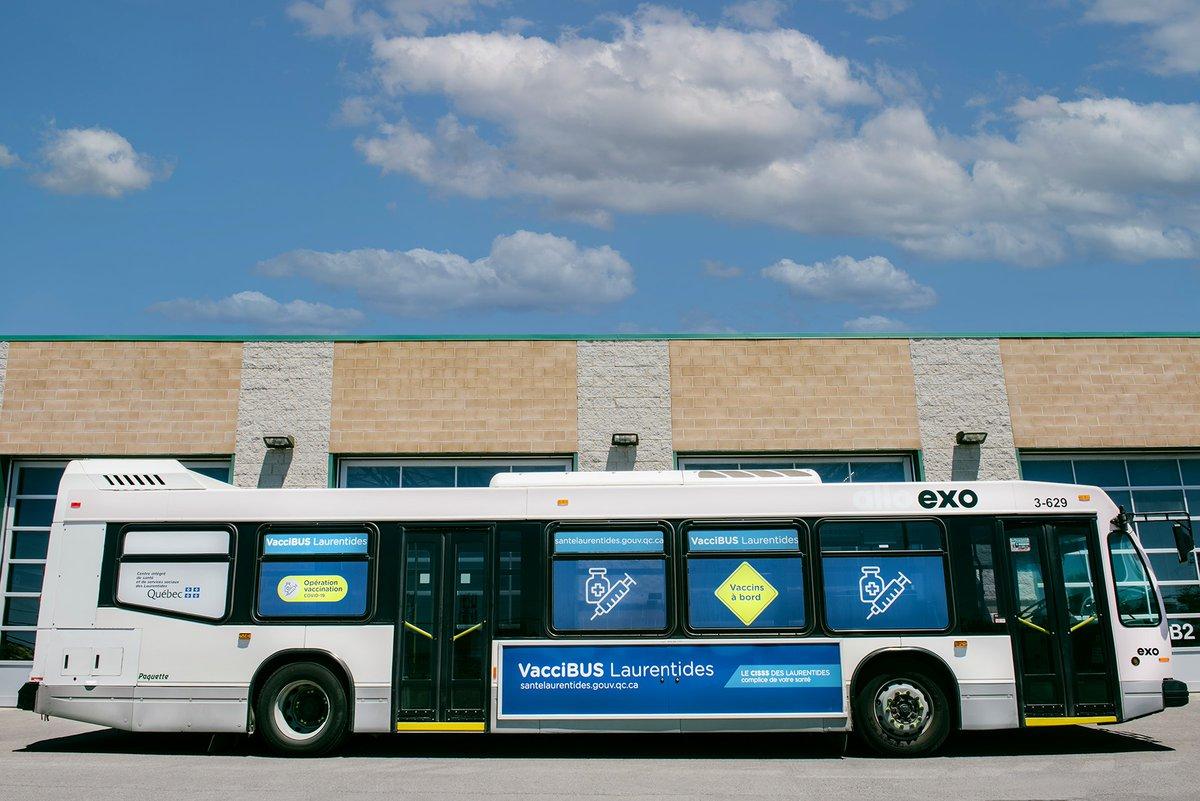[QC] Laurentides - Lachute - VacciBUS  Vaccination mobile en autobus aujourd'hui 19 juin 14h à 20h30  Walk-in bus clinic today June 19th, 2PM-8:30PM  https://t.co/3J3o7i27q1 #COVID19QC #vhcQC https://t.co/45tajITGXO