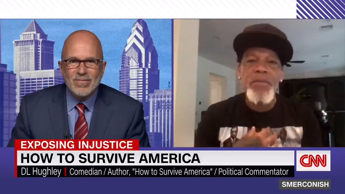 """""""You take all these experiences over and over again, andthey just boil down to one thing, andit's that if you are Black,you are other,"""" comedian DL Hughley tells @smerconish.   """"People have thisnotion of us where, whateverhappens to us is our fault, evengetting Covid."""" https://t.co/ps0BQRjeLv"""