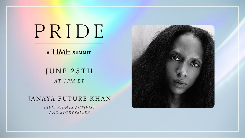 Join us for PRIDE: A TIME Summit featuring @janaya_khan. Register now: https://t.co/wbo531pr9D https://t.co/0vEe88pRyd