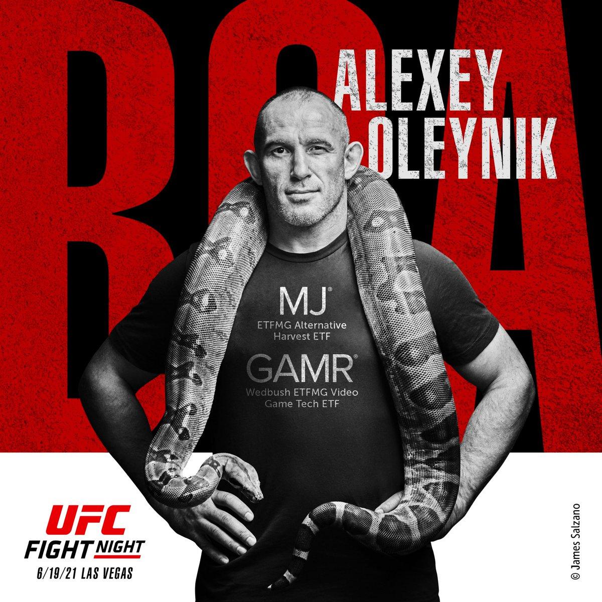 Fight day  BOA  @ufc @ETFMG @ETFMG_CEO @zitopartners @UFCRussia  #ufc #etfmg #oleynik $MJ  #sport https://t.co/ptDexDiKbd