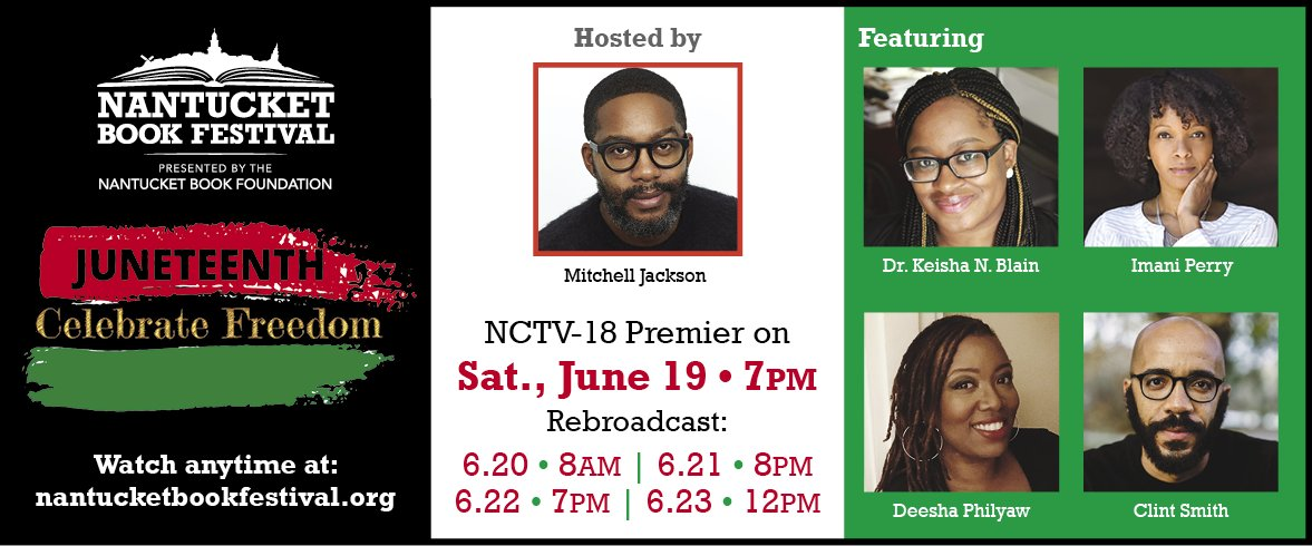 It's #Juneteenth !! We're THRILLED to partner w/ @NCTV18 to air our #Blockbuster @nytimesbooks #Bestselling authors' panel recorded earlier this week!   It premiers TONIGHT @7PMEST & re-airs: Sun June 20 @8PMEST  Mon June 21 @8PMEST  Wed June 22 @12PMEST  Celebrate #FreedomDay!! https://t.co/WGiBctS7rE