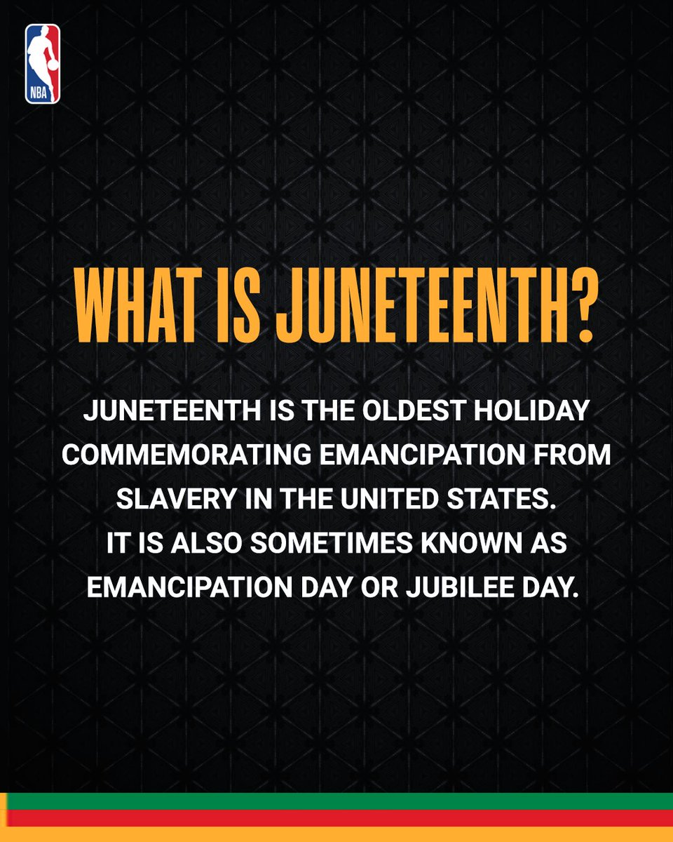 Today we celebrate #Juneteenth, a holiday commemorating the emancipation of slaves in the United States. But if you're not familiar with Juneteenth, you're not alone. Learn more about the history of this holiday and why we celebrate it. https://t.co/lYGZtrRsOX