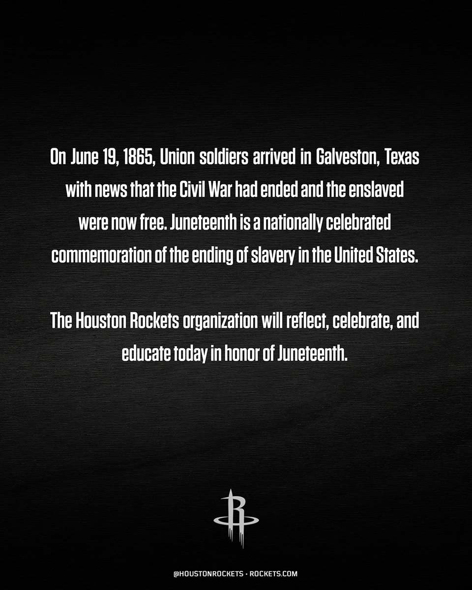 Today we are proud to observe and celebrate #Juneteenth, commemorating the ending of slavery in the United States on June 19, 1865. https://t.co/99B45SF9ID
