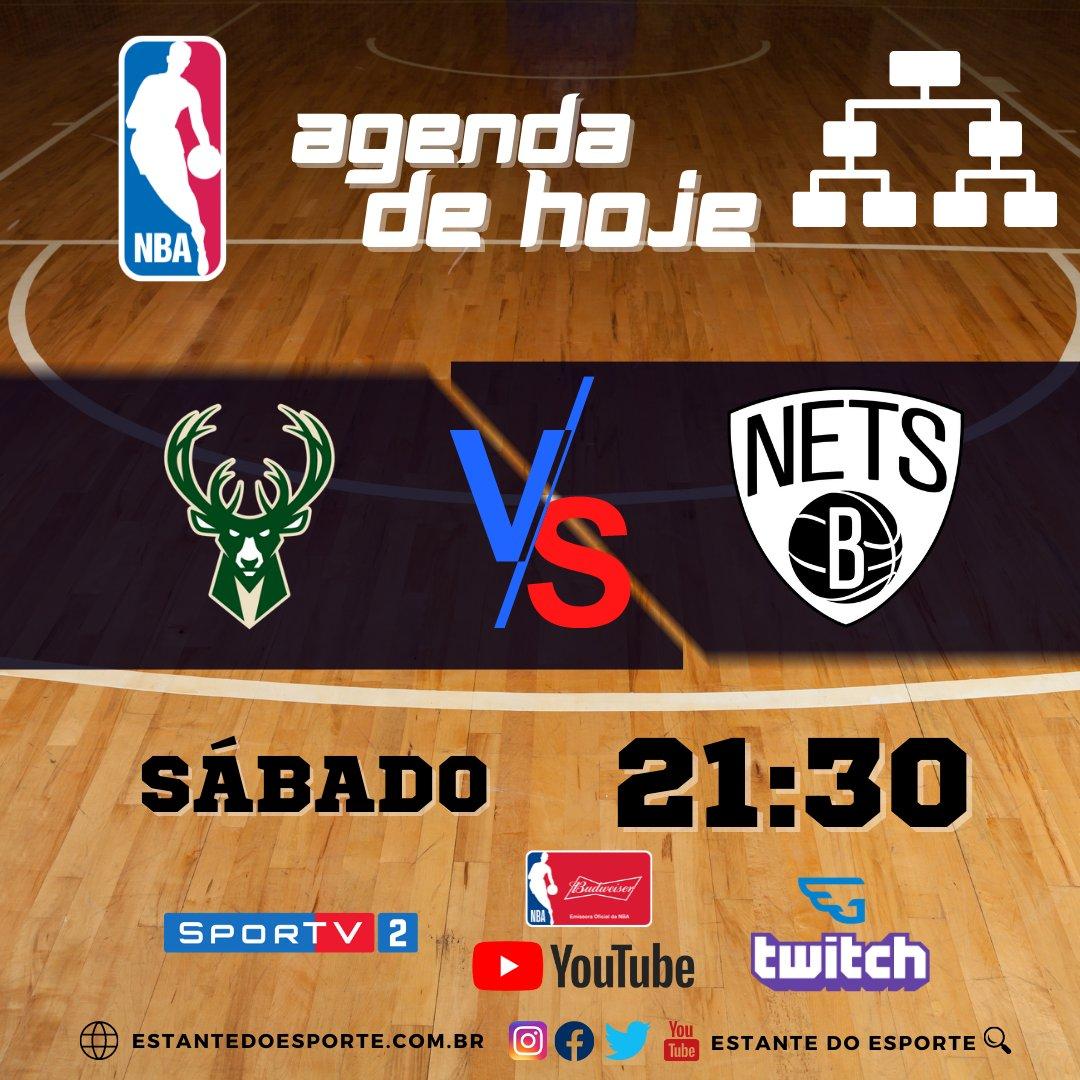 Agenda da NBA 🏀 ⠀ Neste Sábado, confira o jogo ao vivo pelo basquete mais famosos do mundo. ⠀⠀ Nets 3️⃣VS3️⃣ Bucks  #agendanba #nbatwitter #nbabrasil #nba #nbaaovivo #nbafantasy #nba2021 #nbanatv #SporTV #basquete #NBAnoSporTV #Esporte #NBAnoGaules #NBAnaTwitch #NBAnoYoutube https://t.co/rstc38C23x