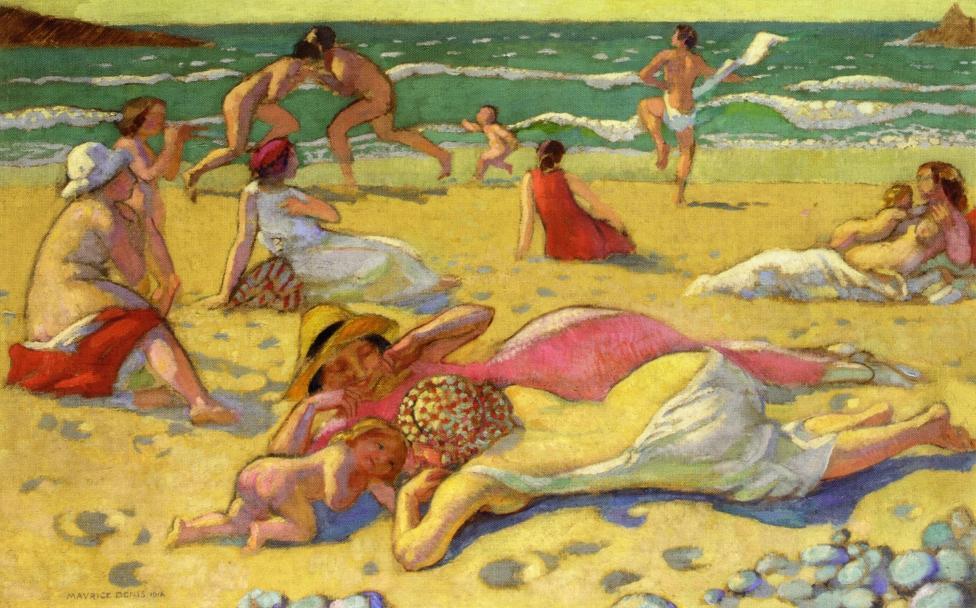 .@AnnaBurnosN1 #art #arts #artLovers #painting #DonneInArte #music Denis Maurice - Beach - Aprile https://t.co/ONKjG32L0s