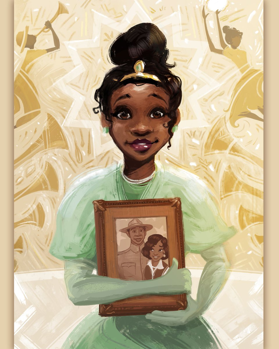 This #Juneteenth, we partnered with two powerful Black artists to reflect on and celebrate the humanity of Black lives, through the lens of their Disney-inspired creations. #BlackHistoryAlways   Princess Tiana by Nikkolas Smith (@4NIKKOLAS) The Proud Family by Khia Ancalade https://t.co/1KxZB3RbZ6
