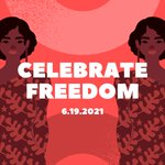 Image for the Tweet beginning: Today is Juneteenth — also