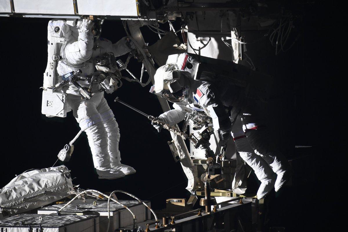 caminata espacial iss