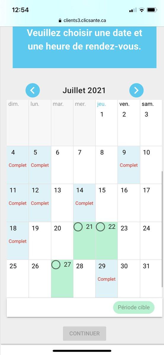 #vaccin #covid19Qc Jordi Bonet à Saint-Hilaire 29 juillet déjà complet. #polqc Merci!! https://t.co/SeMqBIxg1B