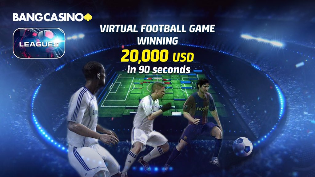 Play Bangbet's Virtual Football Game and you could win 20,000 USD in just 90 seconds!  Such a simple way to cashout money  Join via here 👉 https://t.co/eQxLRFzpLZ https://t.co/1XmU0fFR9j