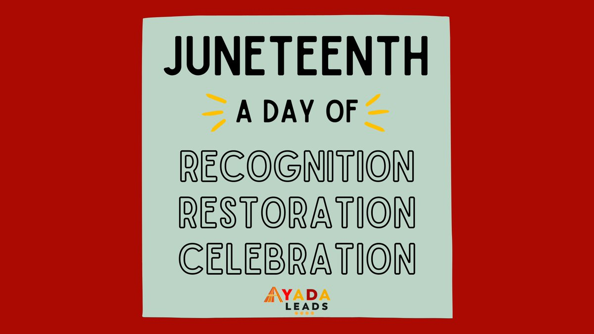 """Ayada Leads wishes you a joyful and restful Juneteenth! As Audre Lorde reminds us, """"Caring for myself is not self-indulgence, it is self-preservation, and that is an act of political warfare."""" https://t.co/RW5s49q2jn"""
