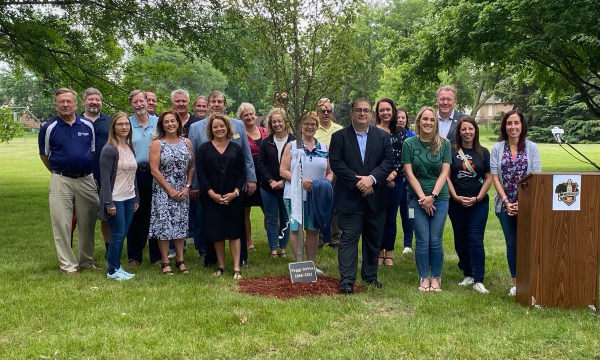 Trustee Peggy DeVos was a tireless advocate for Washington Township and her death is a significant loss to us all. Yesterday, I participated in a tree planting in her honor. We will always remember her dedication to the betterment of our community. https://t.co/7iifRsQP3G