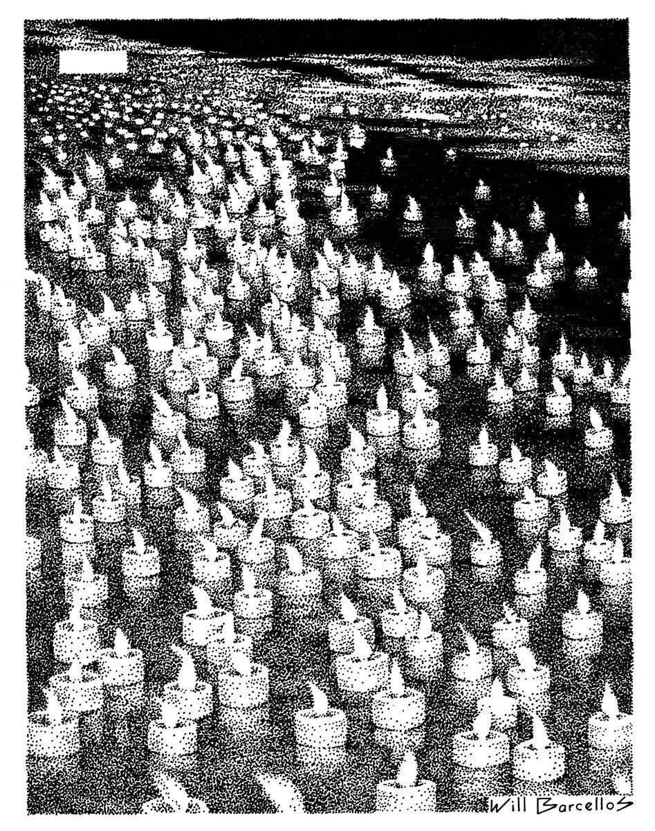 A piauí convidou o artista Will Barcellos para prestar uma homenagem às vítimas na edição deste mês. 500 mil pontos percorrem 76 páginas da revista, formando um conjunto de nuvens. https://t.co/GQARh0Sh85 https://t.co/FRt3fItBeK