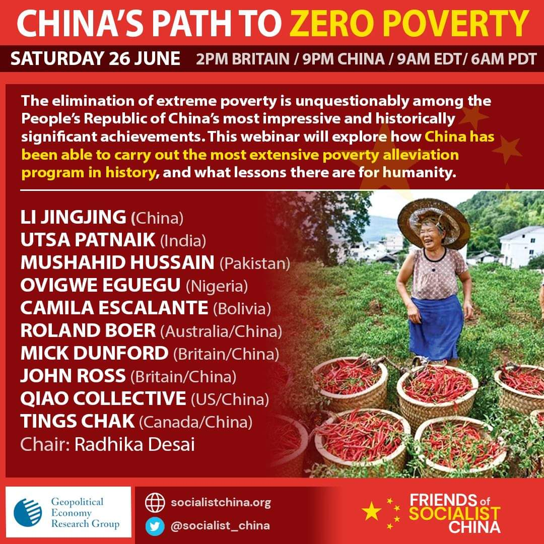 Important online seminar on #China and its remarkable #poverty reduction. Saturday 26 June, 9am US Eastern / 2pm Britain / 9pm China. Thank you Carlos @agent_of_change . Register on Eventbrite: https://t.co/82CFJewsXt https://t.co/F5WtGr9flb