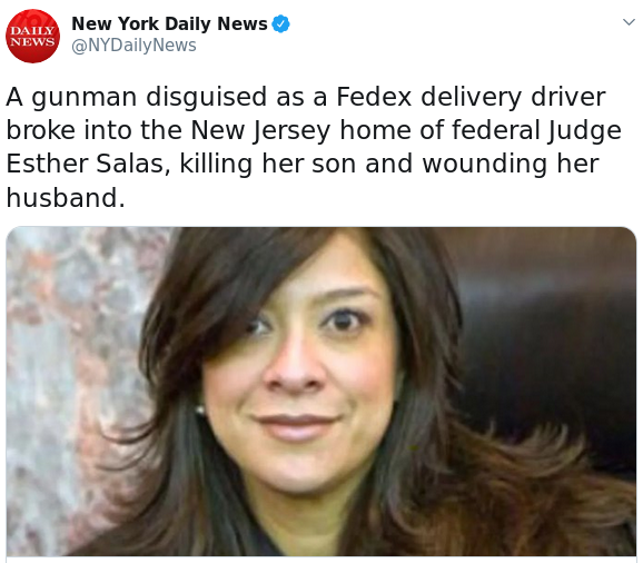 Remember when the family of a federal judge who had just been assigned an Epstein related case was murdered?   And then the whole story just went away. Poof. Like it never happened.   Weird. https://t.co/NzD3uuKA9s