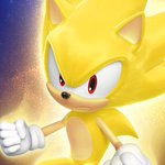Image for the Tweet beginning: A literal glow up.  Super Sonic