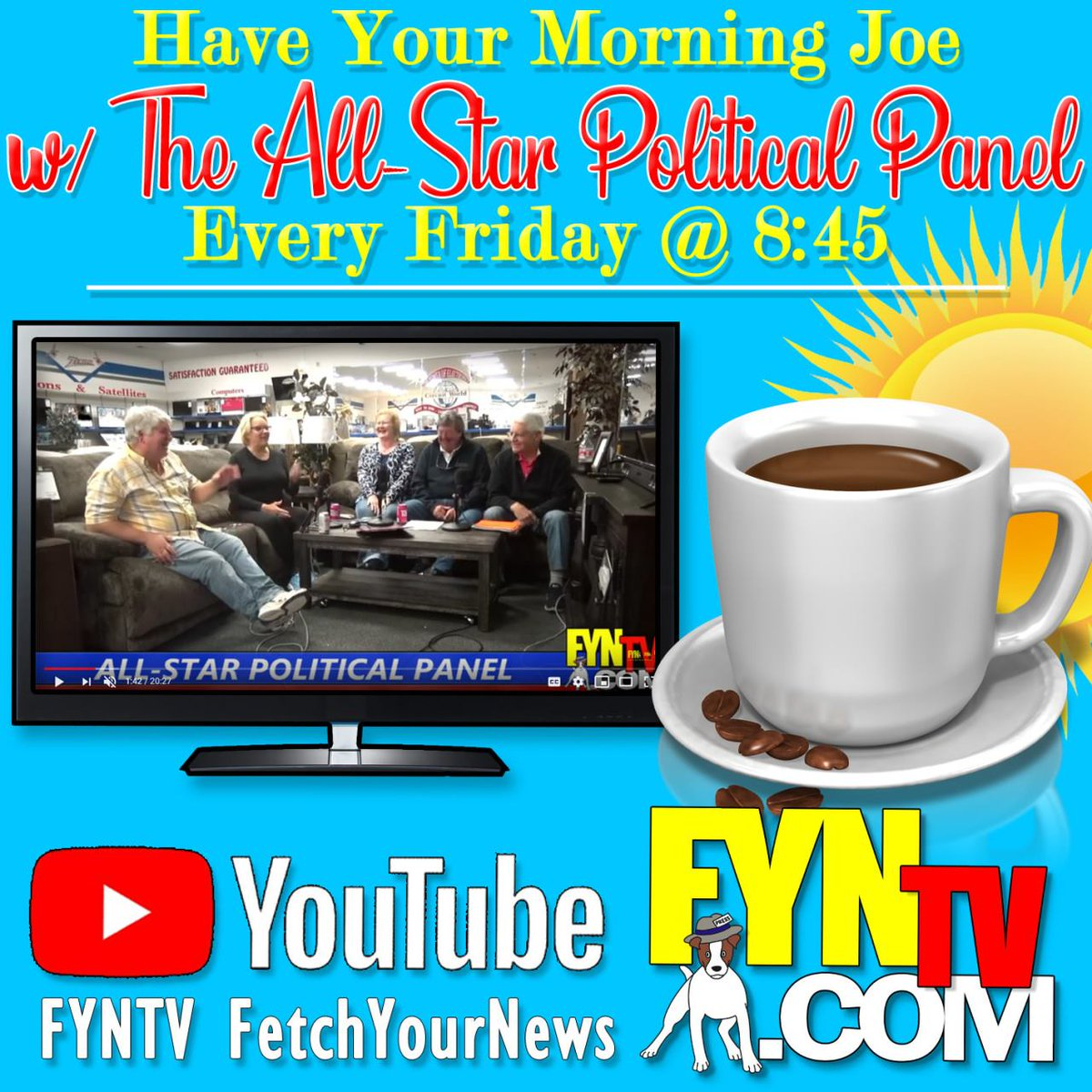 Wake up with the All-Star Political Panel! LIVE every Friday @ 8:45 a.m. on https://t.co/HPnotdnZdS. #GaPol #BKPpolitics #Politics #Part #Trumps #Government #News #LocalNews #BlueRidge #Ellijay #GaRep #GaDem #Georgia https://t.co/8Ky4zI9nIF
