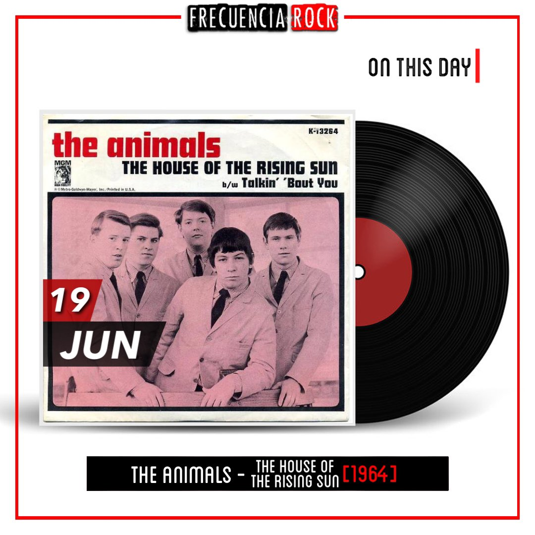 """[OTD]: 54 years ago, The Animals released """"The House of the Rising Sun"""" • • • • • • #otd #57yearsago #onthisday #single #frecuenciarock #music #efemerides #rocknroll #undiacomohoy #musichistory #retrospect #bands #song #musicfacts #thehouseoftherisingsun #theanimals #folk https://t.co/bY9ydx9kUC"""