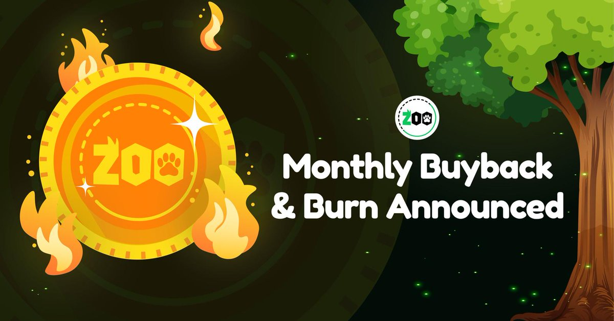 🔥COIN BUYBACK / BURN 🔥 - We will begin a monthly buyback and coin burn of $ZOOT this month, using proceeds from products in our ecosystem (Zoo Index, Zoo Prediction, Merch, etc.). Stay tuned for updates!  BUY ZOOT: https://t.co/qypUMUaPZV  #coinburn #eth #crypto #Altseason2021 https://t.co/EEMNoFcwQ2