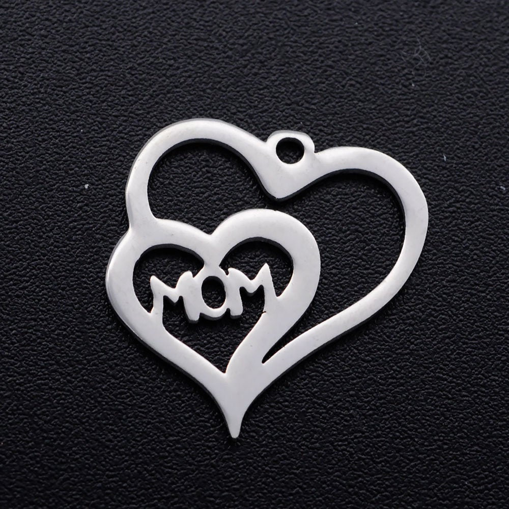 5 Mom Charms Stainless Steel https://t.co/kj4Q3LAfUf #Beads #handmadejewelry #cabochons #stampingsupplies #letterbeads #VickysJewelrySupply #Etsy #charms #Jewelrysupplies #craft supplies #MothersDay https://t.co/zcKDyXEQ8f