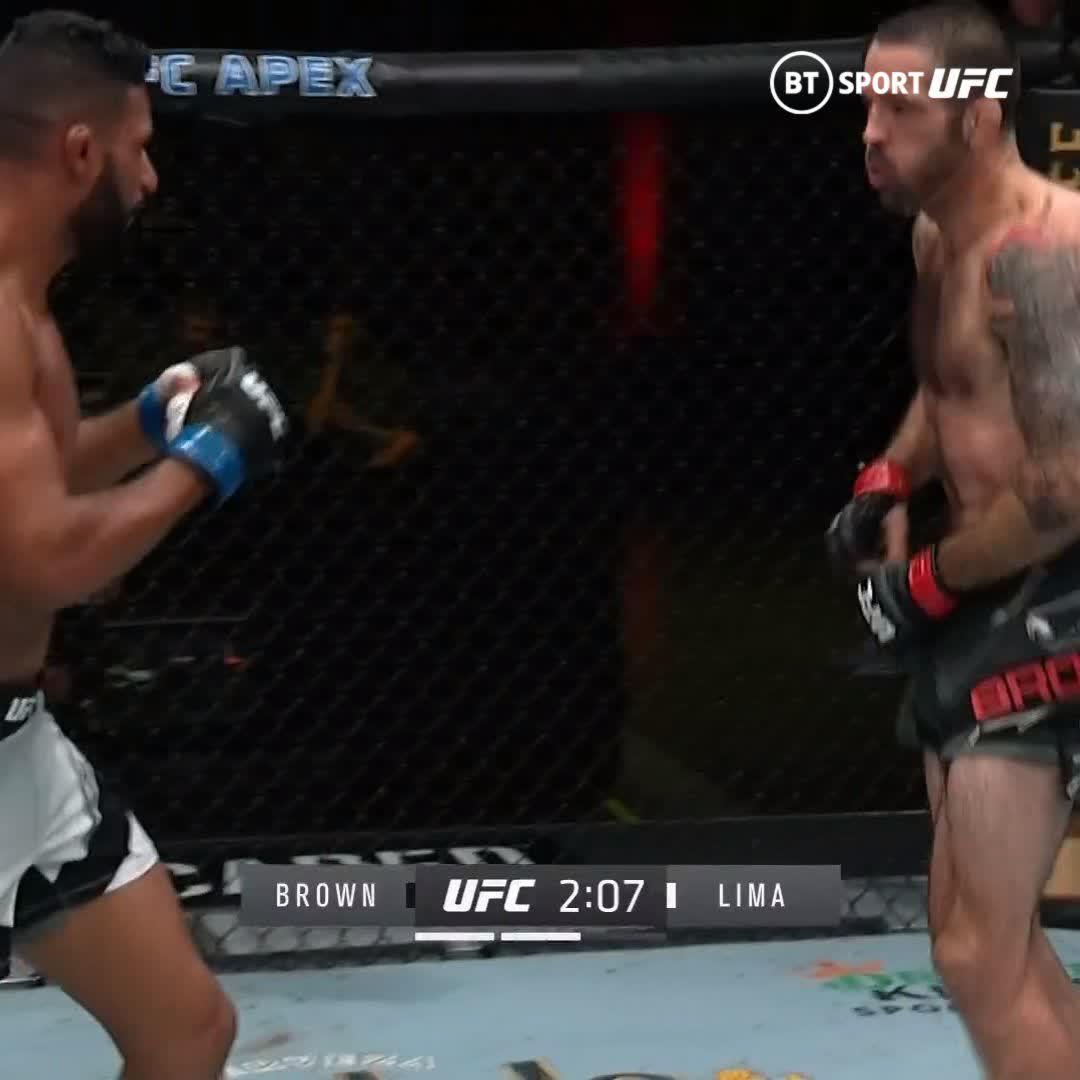 You don't lose that KO power! Matt Brown still got it at #UFCVegas29!  https://t.co/Eynt0JWD3t