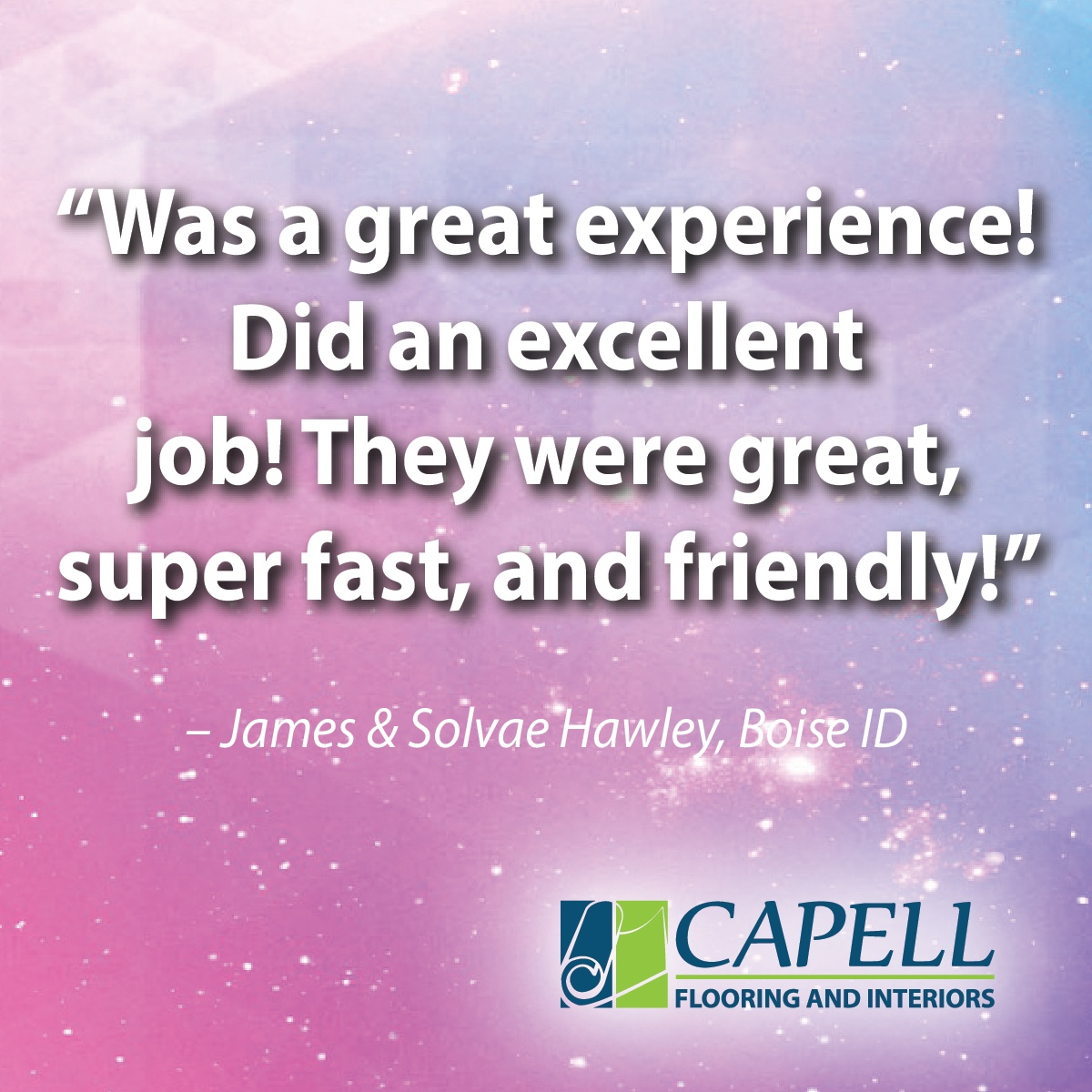 """""""Was a great experience! Did an excellent job! They were great, super-fast, and friendly!"""" - James & Solvae Hawley ------------  #happyclients #happy #contractorsofinsta #construction #interiordesign #constructionlife #design #contractor #homedesign #capellflooring https://t.co/5ZbwntT1EG"""
