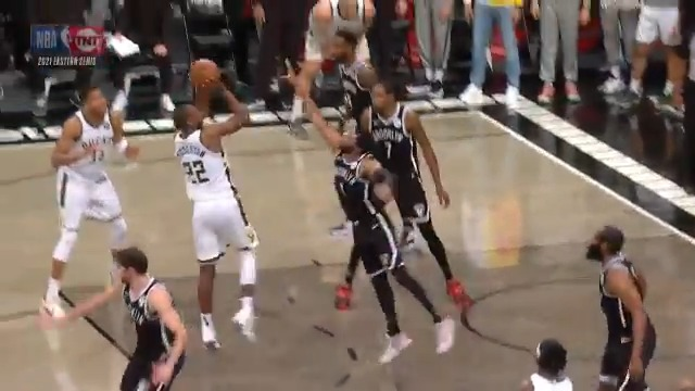 Another look at the Khris Middleton jumper that put the @Bucks ahead for good! #ThatsGame   Milwaukee advances to the #NBAECF presented by AT&T... they will play the winner of ATL/PHI. #NBAPlayoffs https://t.co/TFYlyrrvNB