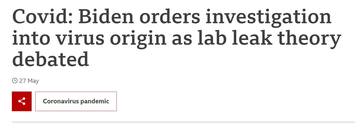 21 May: Biden ordered the intelligence agencies to investigate virus origin as lab leak theory.  15 June: NIH published study revealing #COVID19 infected people in 5 U.S. states in ***December 2019***  On the same day, HHS launches audit on NIH.   Fishy? https://t.co/AD9XdjWVI2