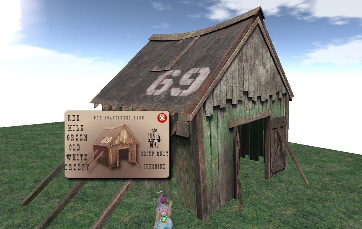 8Liの小屋。HUDで壁の色が少し変えられます。 The Abandonned Barn https://t.co/DjYPN2F0fS #SL18B #GIFT https://t.co/jCwOE3cuyM https://t.co/3IXsR5YHbI