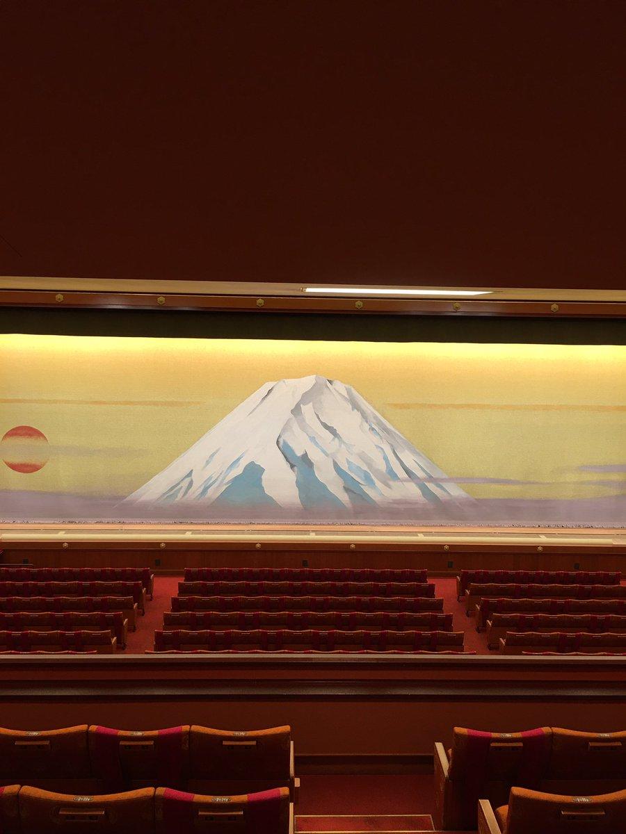Today's Kabukiza Theatre NOW. #kabuki #tokyo #japan  #歌舞伎 #歌舞伎座 #theatre #play #traditional #六月大歌舞伎 #富士山 https://t.co/pbq9r1HBru