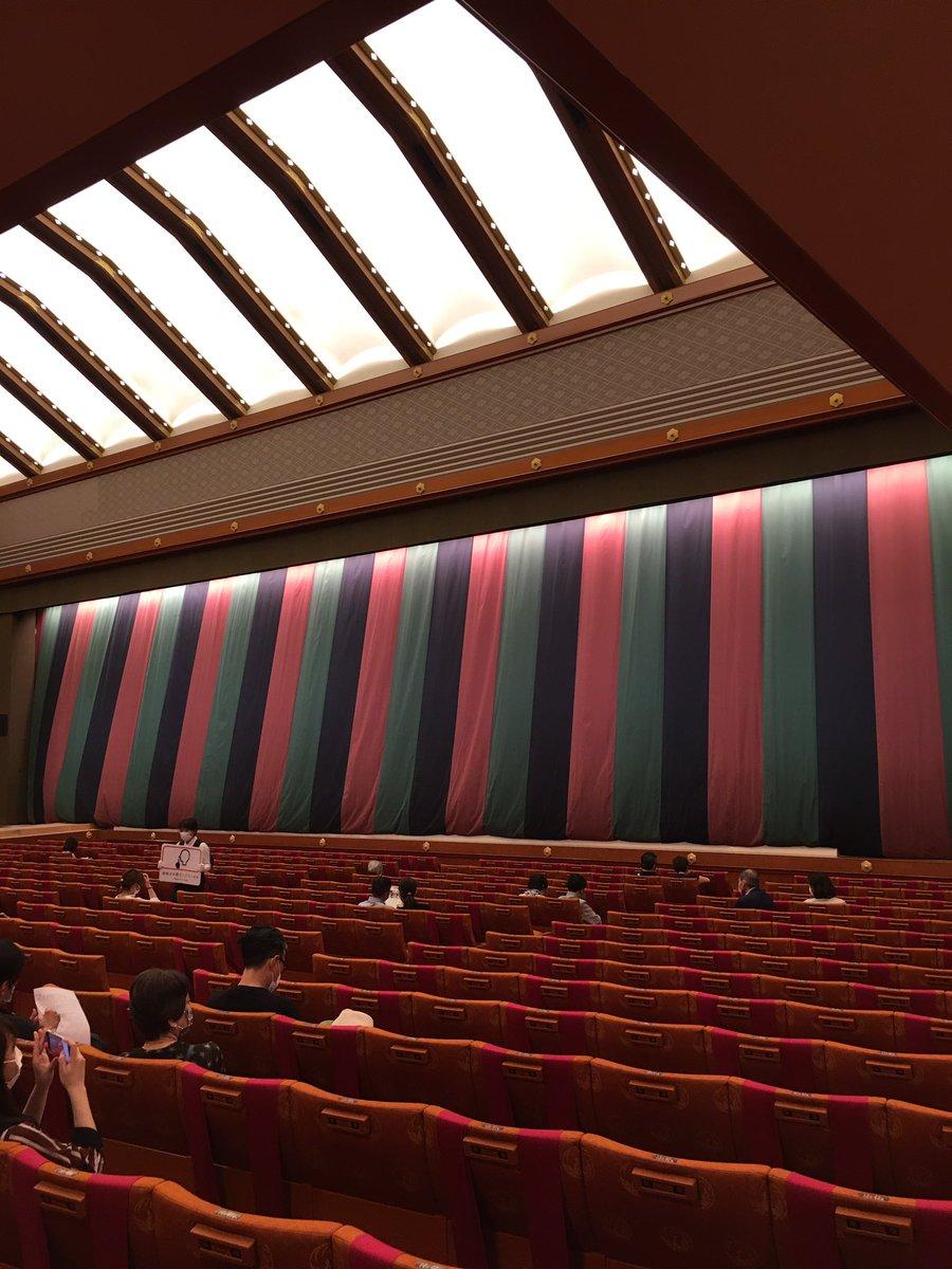 Today's Kabukiza Theatre NOW. #kabuki #tokyo #japan  #歌舞伎 #歌舞伎座 #theatre #play #traditional #六月大歌舞伎 #富士山 https://t.co/nkQxwP4m5p